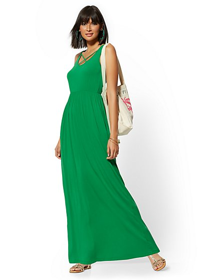 Crisscross-Front Maxi Dress - Soho Street - New York & Company