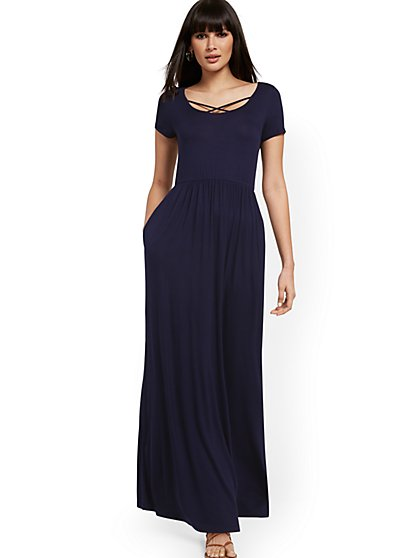 Crisscross-Front Maxi Dress - New York & Company