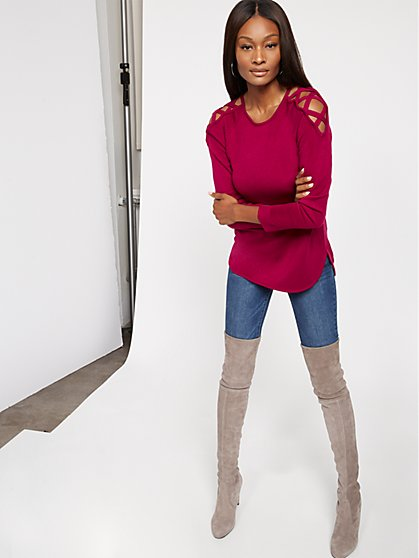 Crisscross Hi-Lo Tunic Sweater - New York & Company
