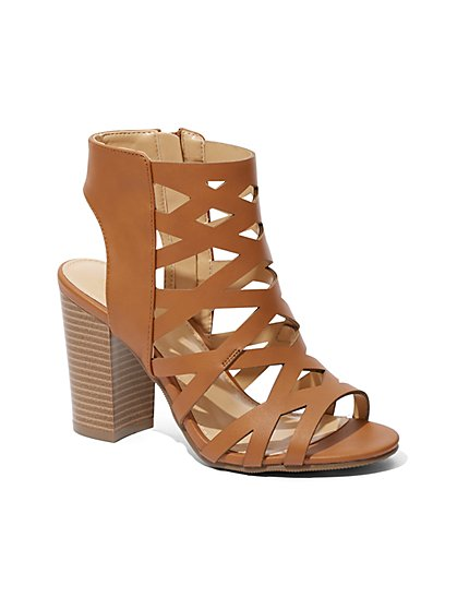 Crisscross Strap High-Heel Sandal - New York & Company