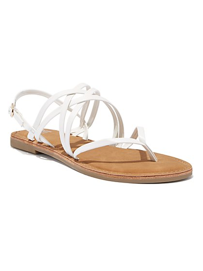 Crisscross-Strap Thong Sandal - New York & Company