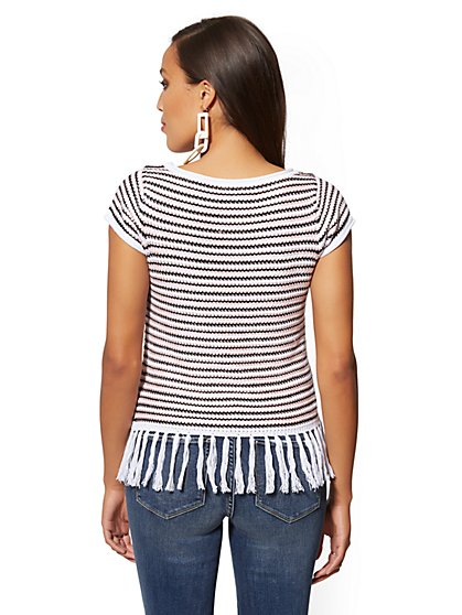3e3f175b092 ... Crochet Stripe Tassel-Accent Sweater - New York   Company