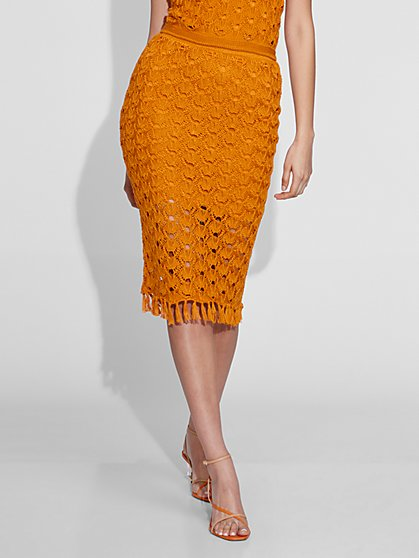 Crochet Sweater Skirt - Gabrielle Union Collection - New York & Company