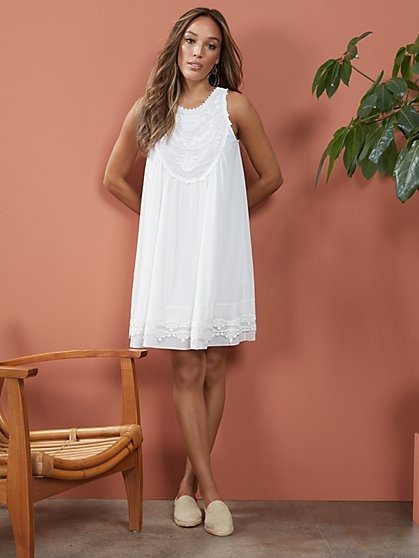 Crochet Tank Swing Dress - New York & Company