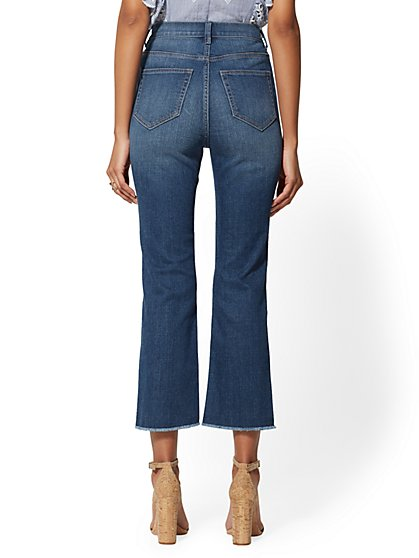 479f4ef05322 ... Crop Flare Jeans - Foxy Blue - Soho Jeans - New York   Company