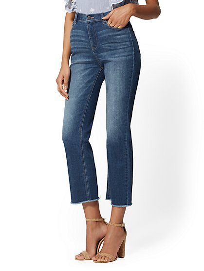Crop Flare Jeans - Foxy Blue - New York & Company