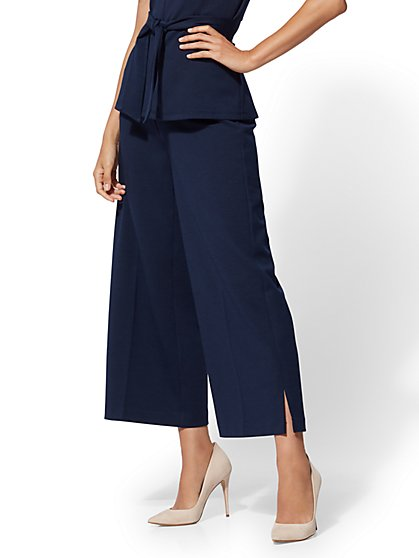 Crop Palazzo Pull-On Pant - 7th Avenue - New York & Company