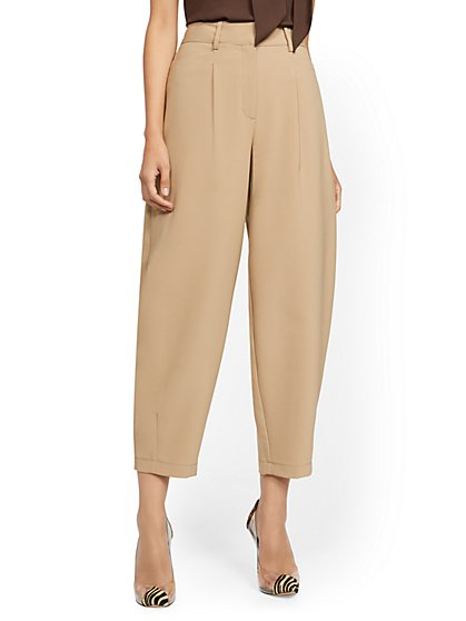 Crop Pant - Camel - 7th Avenue - New York & Company
