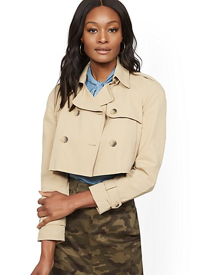 Crop Trench Coat - New York & Company