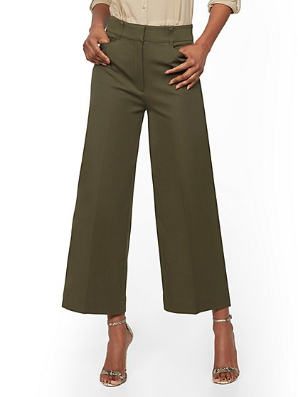 Crop Wide- Leg Pant - Signature Fit - 7th Avenue - New York & Company