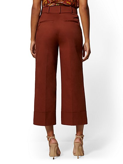 c07e5f3763df ... Crop Wide Leg Pant - Signature Fit - Brown - 7th Avenue - New York &