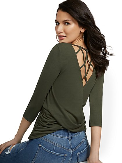 Cross-Back Top - New York & Company