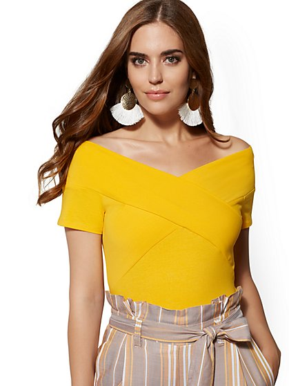 Crossover Off-The-Shoulder Top - New York & Company