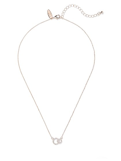 Cubic Zirconia Circle Pendant Necklace - New York & Company
