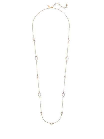Cubic Zirconia Station Necklace - New York & Company
