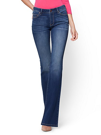 Curvy Bootcut Jeans - Force Blue - Soho Jeans - New York & Company