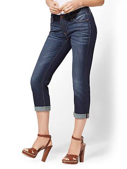 Curvy Crop Boyfriend Jeans - New York & Company