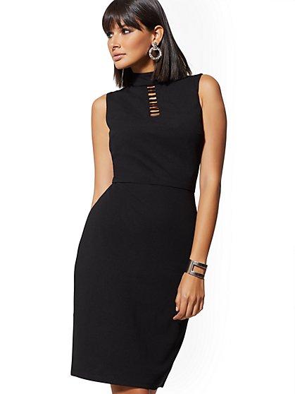3954bd2609e BLACK. NY Deal. Cutout Sleeveless Bodycon Sheath Dress - Magic Crepe - New  York   Company ...