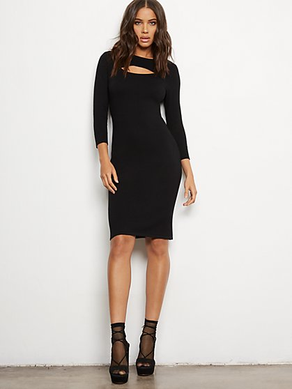 Cutout Sweater Sheath Dress - 7th Avenue - New York & Company