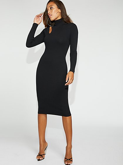 Cutout Turtleneck Sweater Sheath Dress - Gabrielle Union Collection - New York & Company