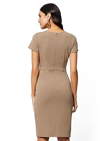 d9b74b65 ... D-Ring Sheath Dress - Magic Crepe - New York & Company