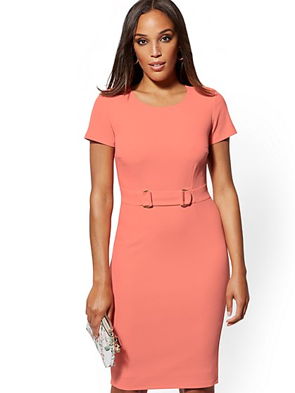 D-Ring Sheath Dress - Magic Crepe - New York & Company