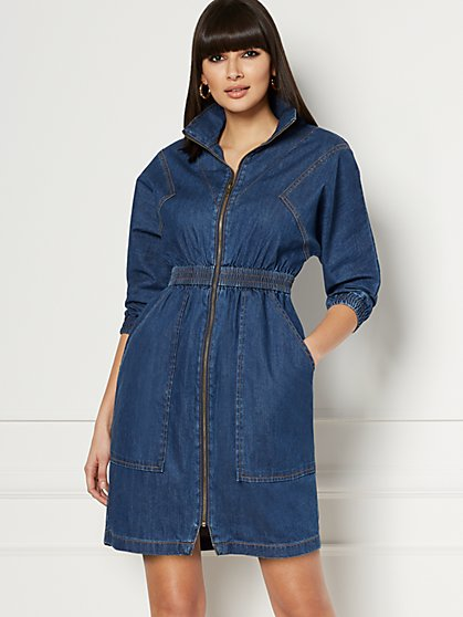 Dallas Denim Shirtdress - Eva Mendes Collection - New York & Company