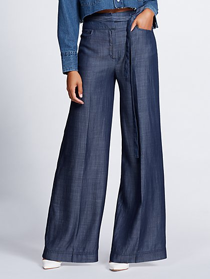 Dark Blue Wide-Leg Pant - Gabrielle Union Collection - New York & Company
