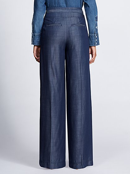 6e442986c ... Dark Blue Wide-Leg Pant - Gabrielle Union Collection - New York    Company
