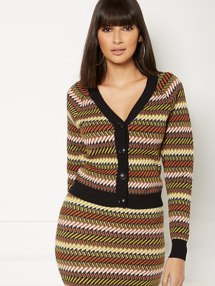 Daryl Geo-Print Cardigan - Eva Mendes Collection - New York & Company