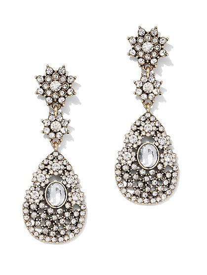 Dazzling Goldtone Drop Earring - New York & Company