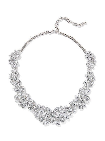 Dazzling Silvertone Collar Necklace - New York & Company