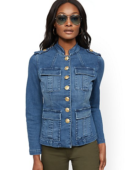 Denim Cadet Jacket - New York & Company