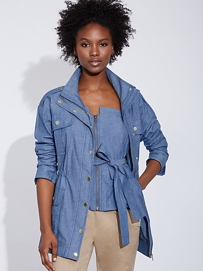 Denim Cargo Jacket - Gabrielle Union Collection - New York & Company