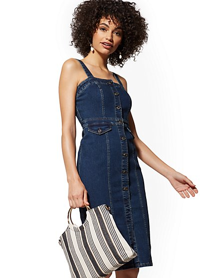 Denim Dress - Dark Wash - New York & Company