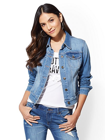 Denim Jacket - Blue Society - New York & Company