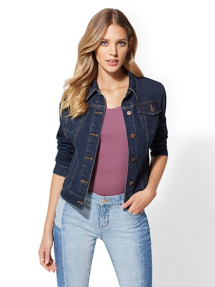 Denim Jacket - Deep End Blue - New York & Company