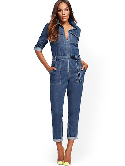 Denim Jumpsuit - Blessed Blue - New York & Company