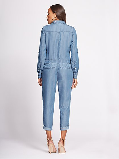 f348143a364a ... Denim Jumpsuit - Blue Flash Wash - Gabrielle Union Collection - New York    Company