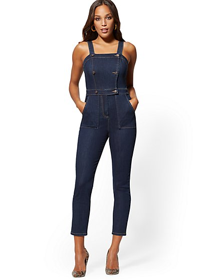 Denim Jumpsuit - Blue Hustle - New York & Company