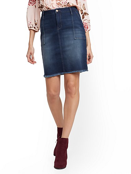 Denim Skirt - Blueberry - New York & Company