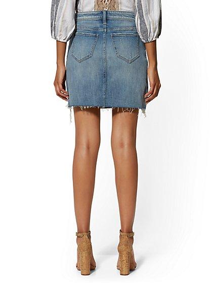 799cb1770 ... Destroyed Mini Skirt - Big Blue - Soho Jeans - New York & Company