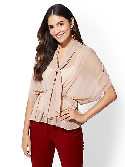 Dolman Bow Blouse - New York & Company