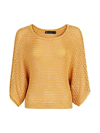 Dolman-Sleeve Crochet Sweater - The NY&C Legacy Collection - New York & Company