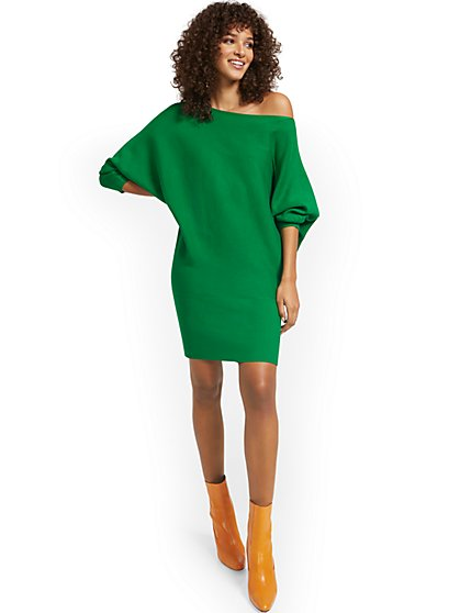 Dolman Sweater Dress - New York & Company