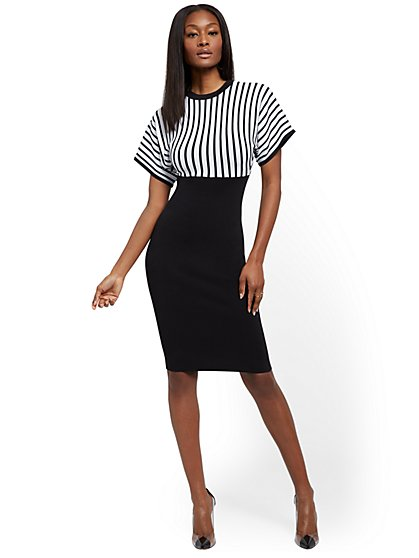 Dolman Sweater Sheath Dress - New York & Company