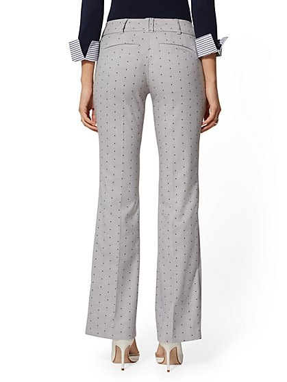 13561a24cfe ... Dot Bootcut Pant - Mid Rise - Grey - 7th Avenue - New York & Company