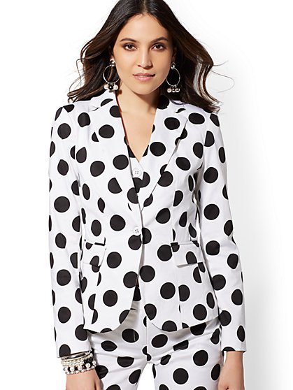 Dot One-Button Jacket - 7th Avenue - New York & Company