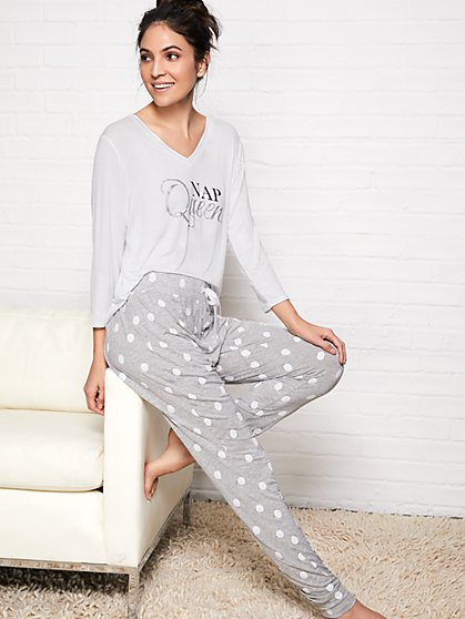 Dot-Print Jogger Pant - New York & Company