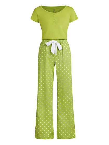 Dot-Print Pajama Set - New York & Company